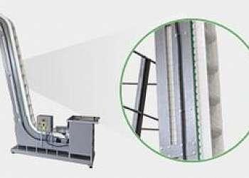Elevador industrial de canecas