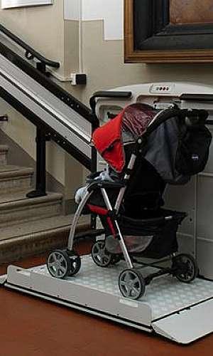 elevador de escada com plataforma