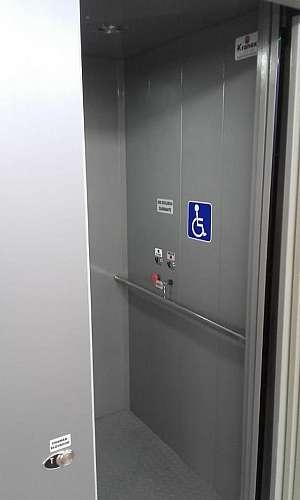 Elevador externo para cadeirante