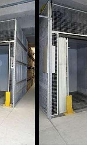 Elevador monta carga hidráulico