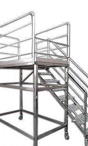 Plataformas em aço inox