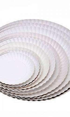 Prato de papelão