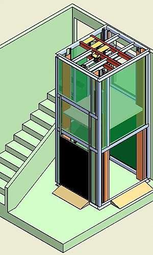 Projeto de elevador de monta carga