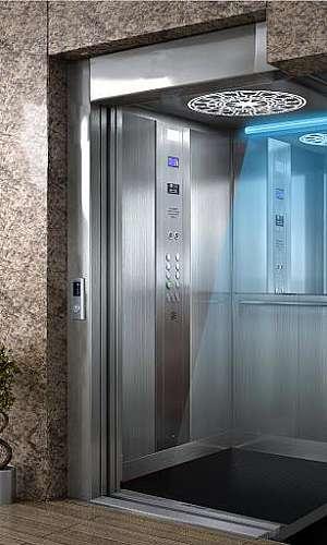 Sistema de higienização de elevador com UVC
