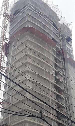 Tela de fachada construção civil